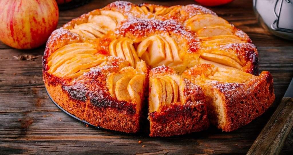 foto da receita Bolo de maçã com canela