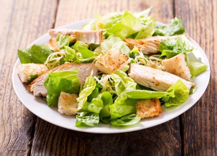 foto da receita Salada verde com frango
