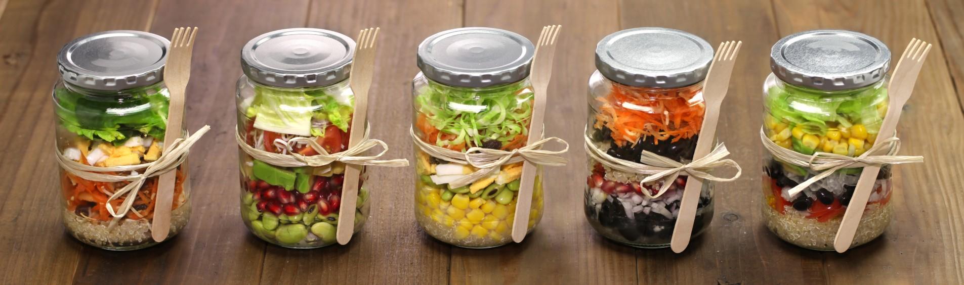 foto da receita Salada arco-irís de pote