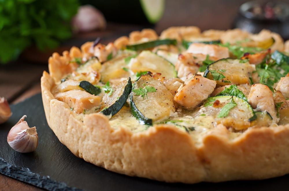 foto da receita Quiche de frango com abobrinha