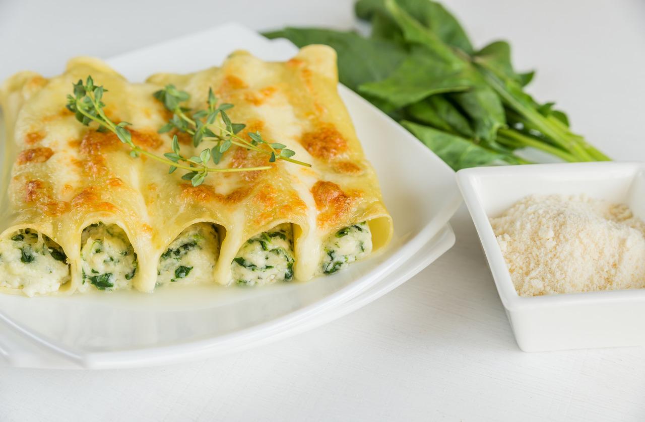 foto da receita Canelone com espinafre