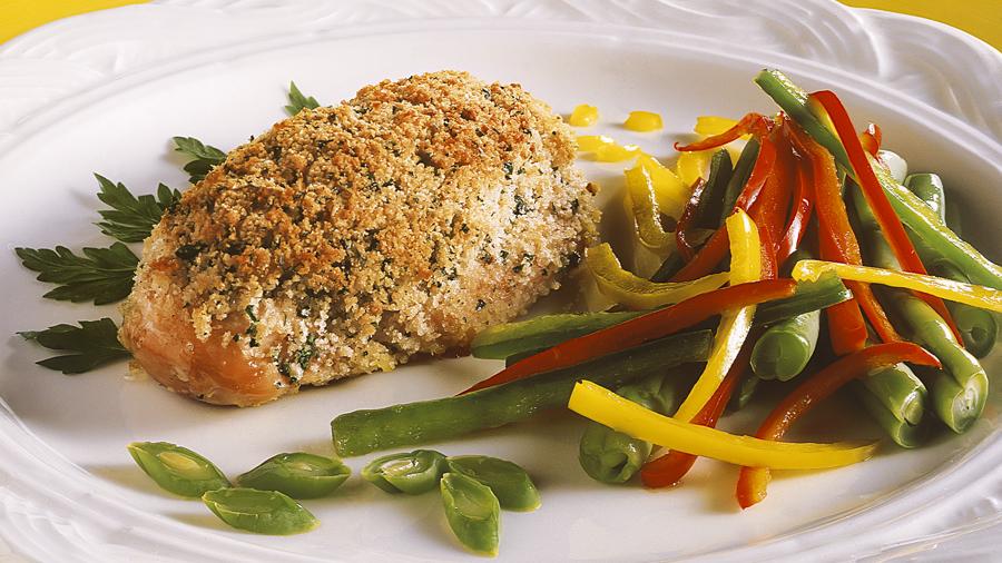 foto da receita Filé de frango com cobertura crocante
