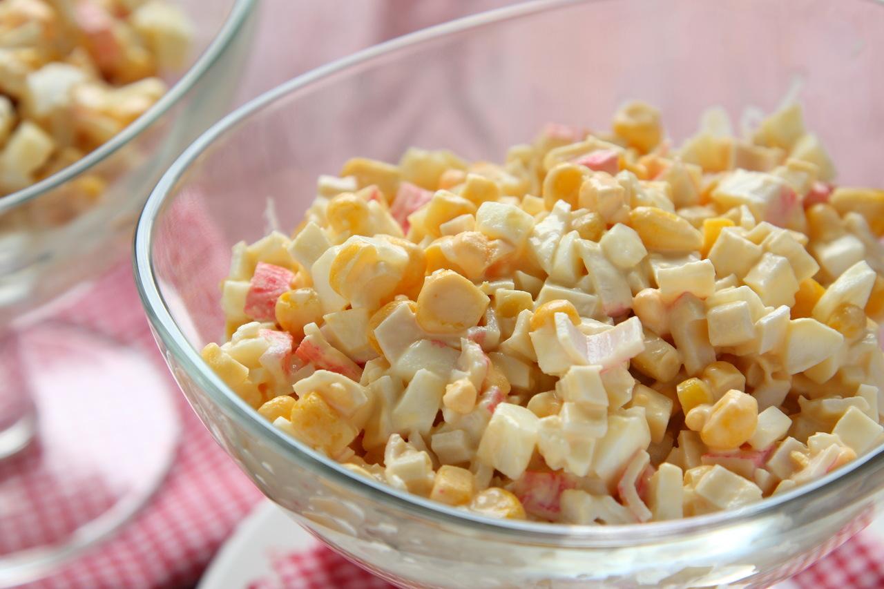 foto da receita Salada de maionese com peito de peru e palmito