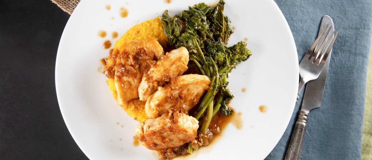 foto da receita Frango com alecrim e polenta