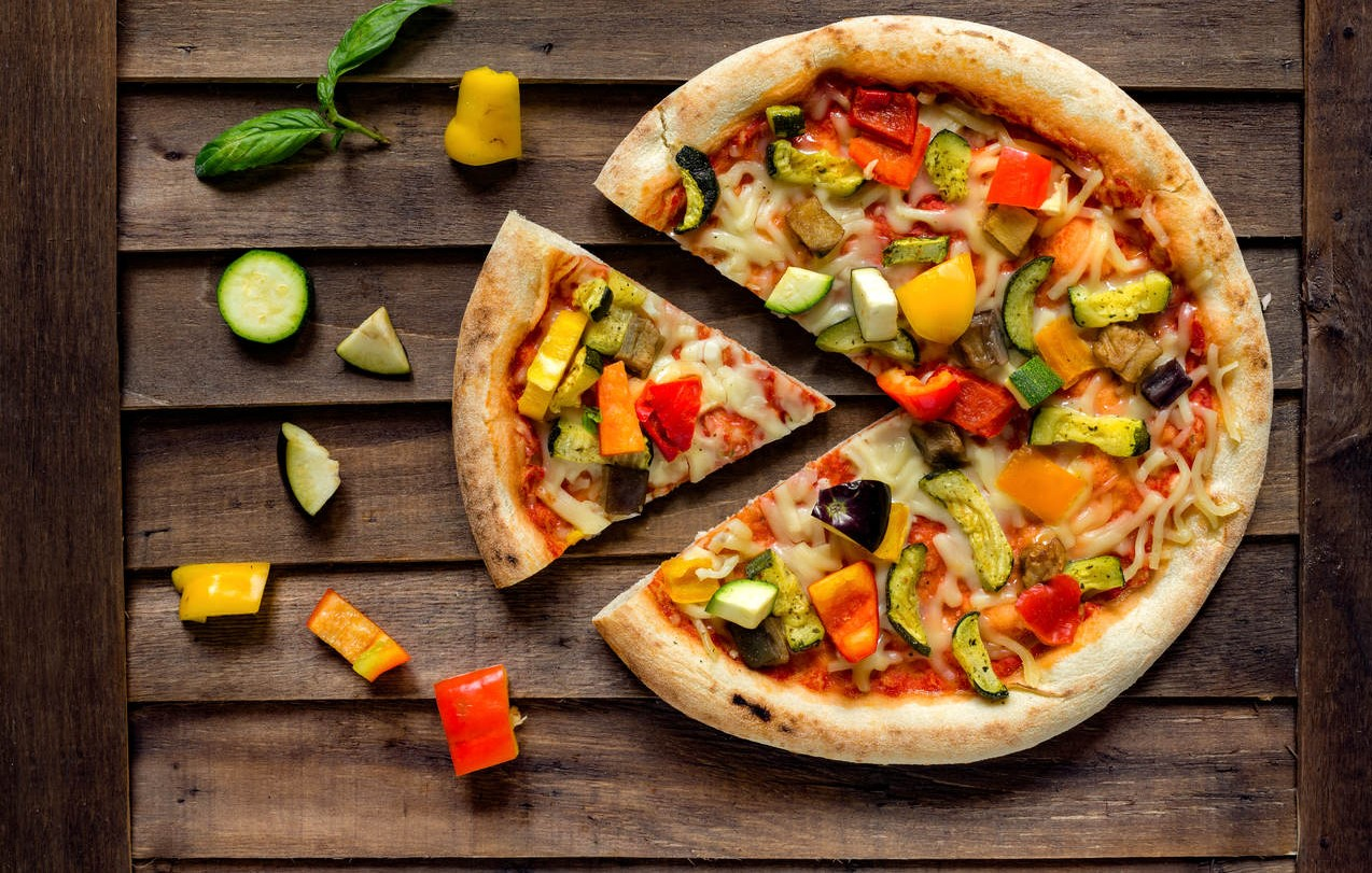 Pizza de berinjela light