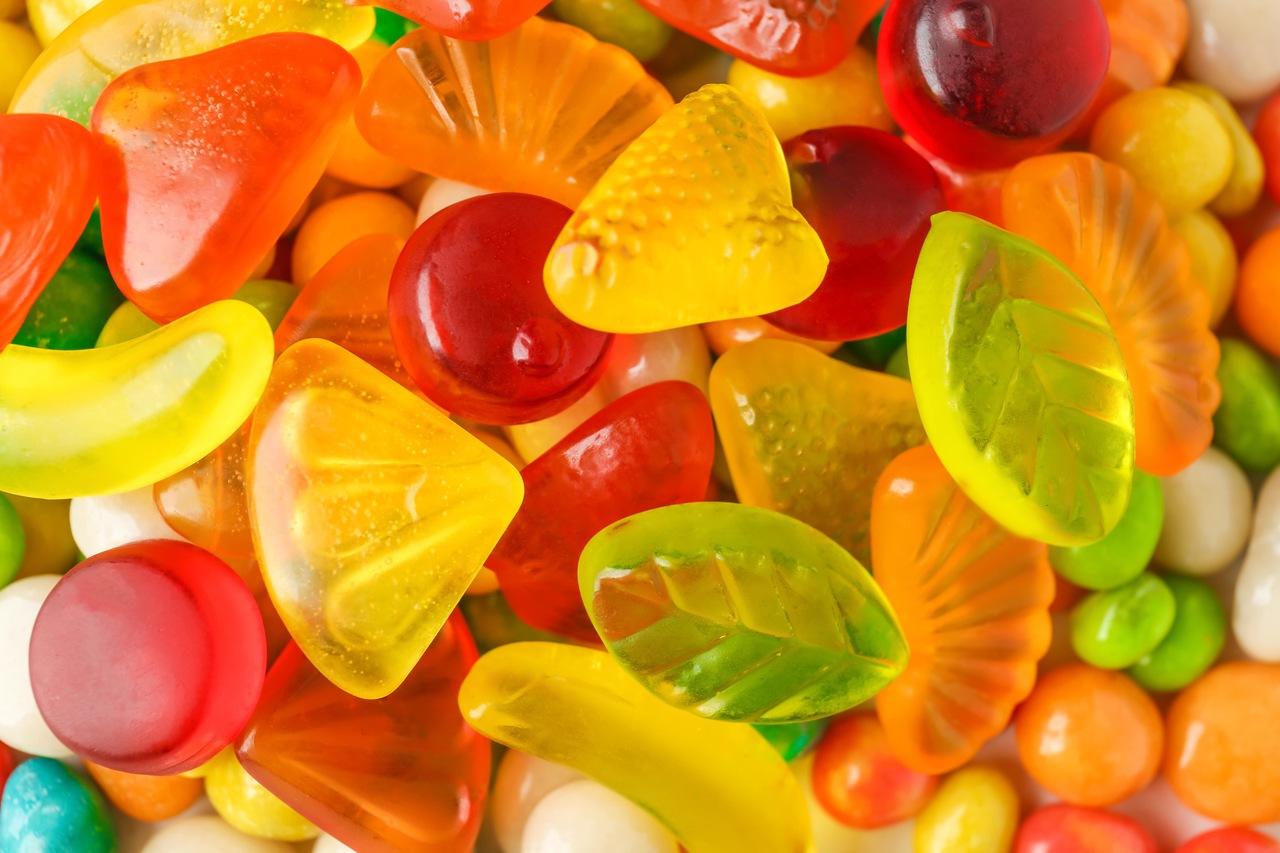 Bala natural de gelatina