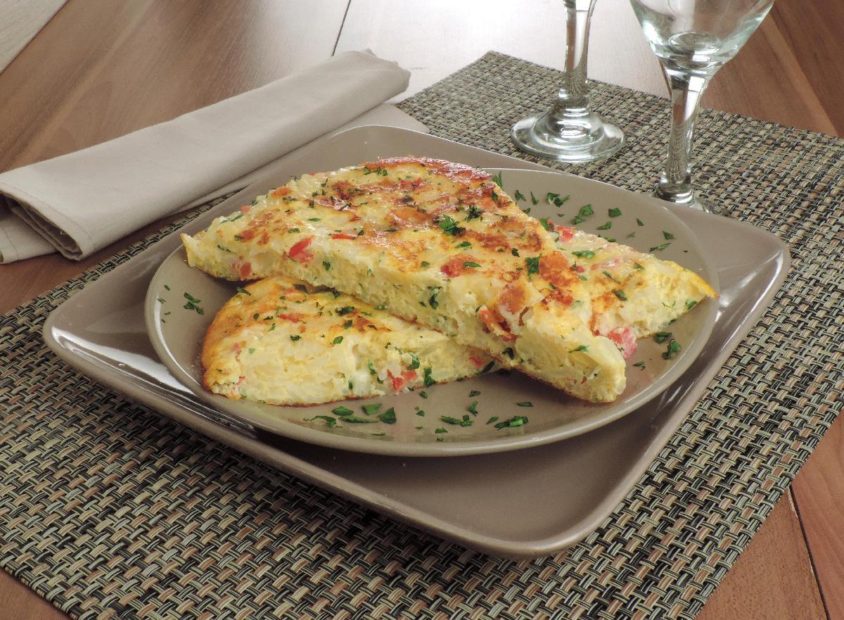 foto da receita Omelete assada de arroz