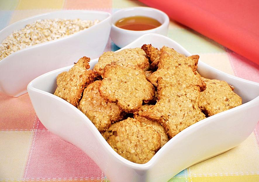 Biscoitos de aveia e mel