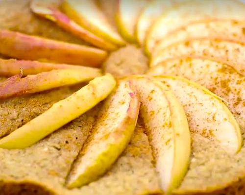 foto da receita Bolo de maçã light