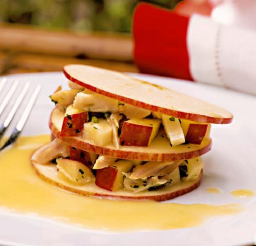 foto da receita Salada de frango defumado e maçã