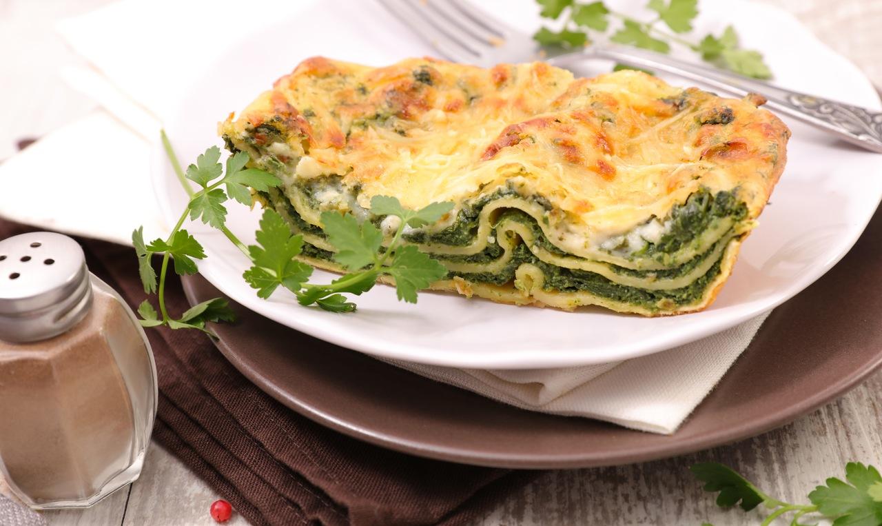 foto da receita Lasanha de rúcula com queijo branco