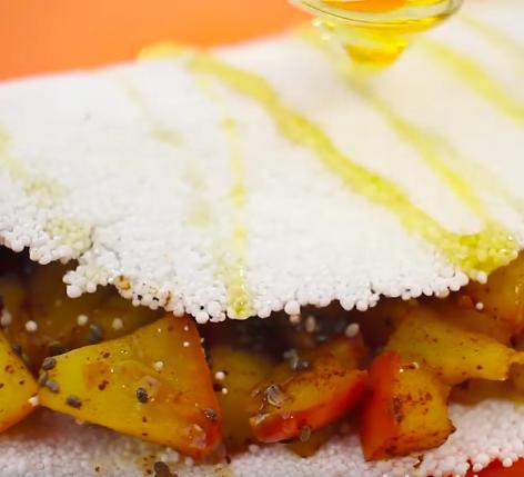 foto da receita Tapioca com recheio leve de maçã