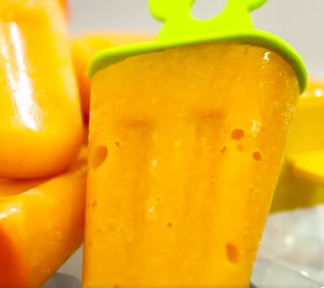 Picolé de manga com cenoura