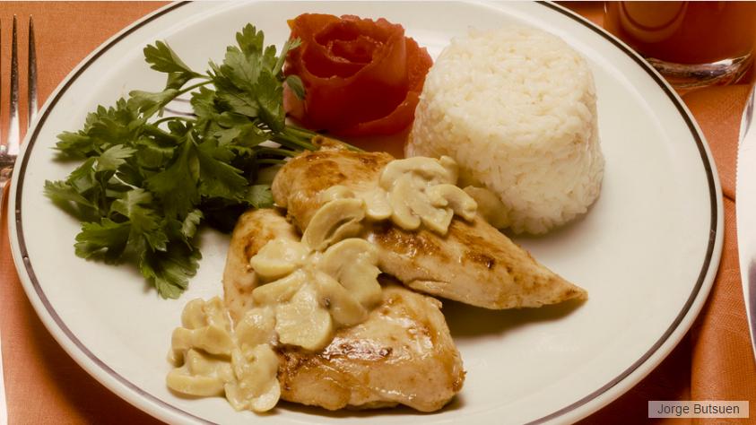 foto da receita Peito de frango com cogumelo