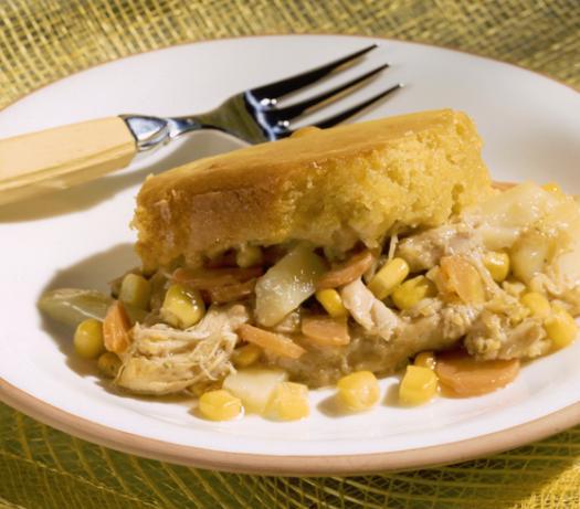 foto da receita Torta de frango com massa de fubá