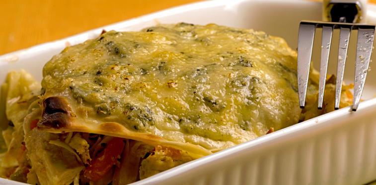 foto da receita Lasanha de frango e legumes