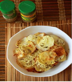 foto da receita Chips light de batata-doce ao forno