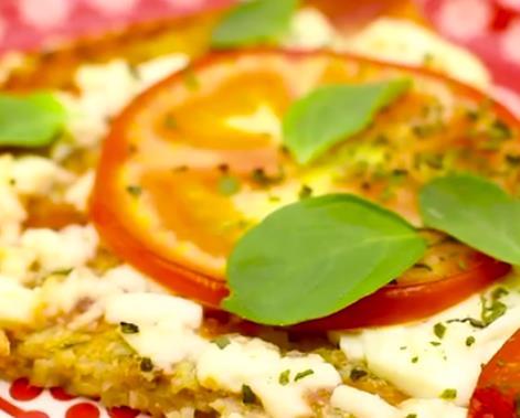 foto da receita Pizza com massa de couve flor