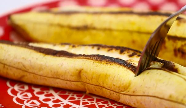 foto da receita Banana assada com queijo