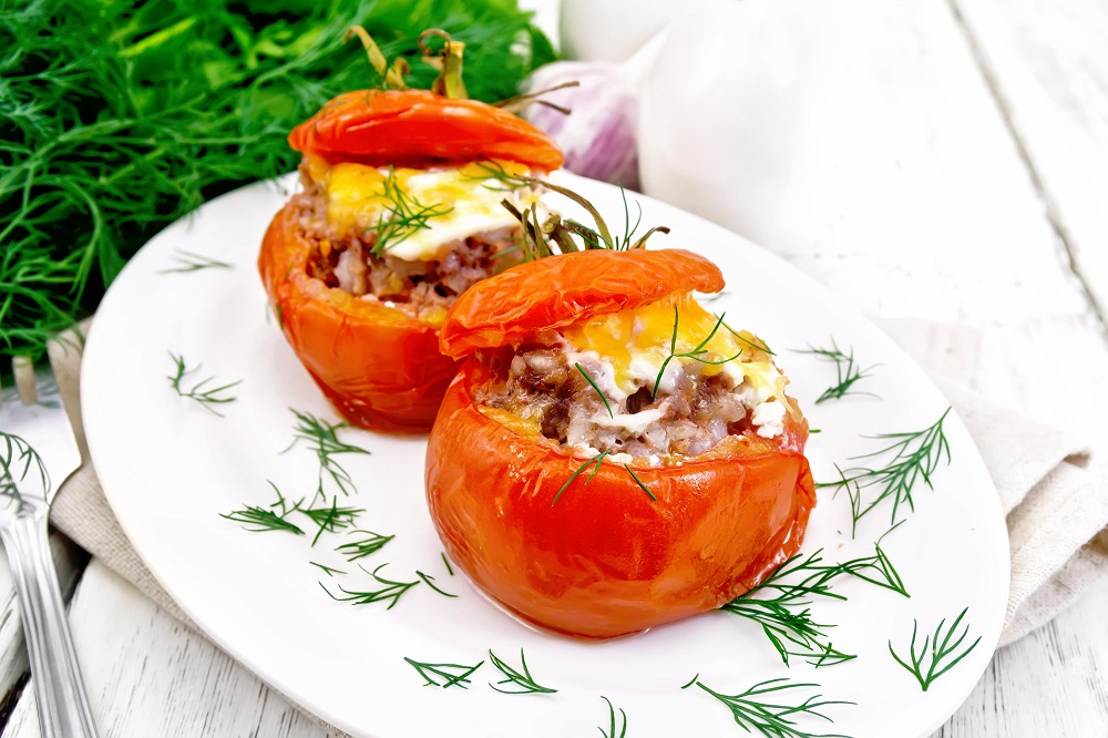 Tomate recheado low carb