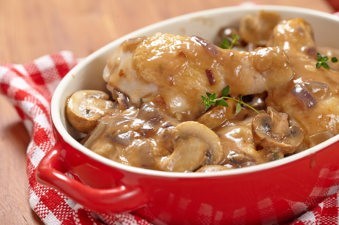 Frango com molho de cogumelos low carb