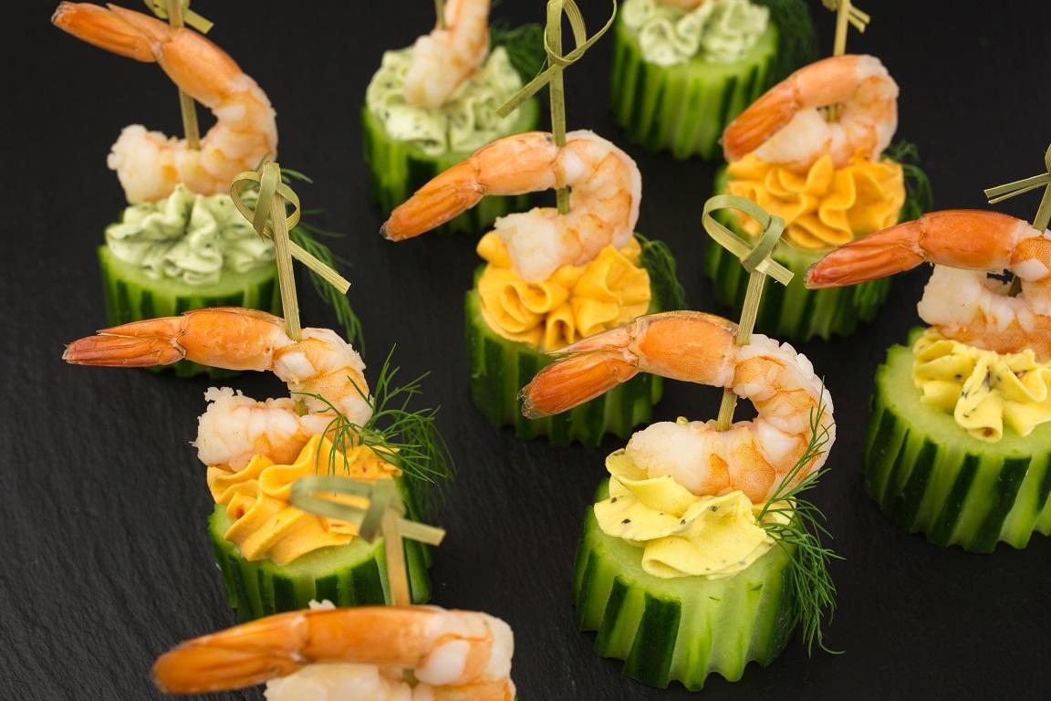 foto da receita Espetinhos de camarão com queijo low carb