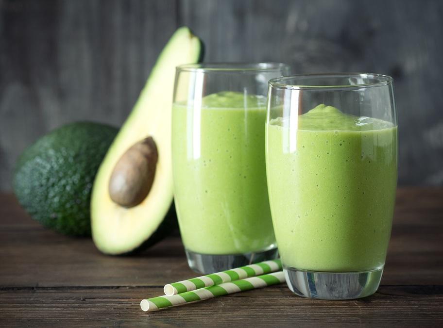 foto da receita Smoothie de chá verde com abacate