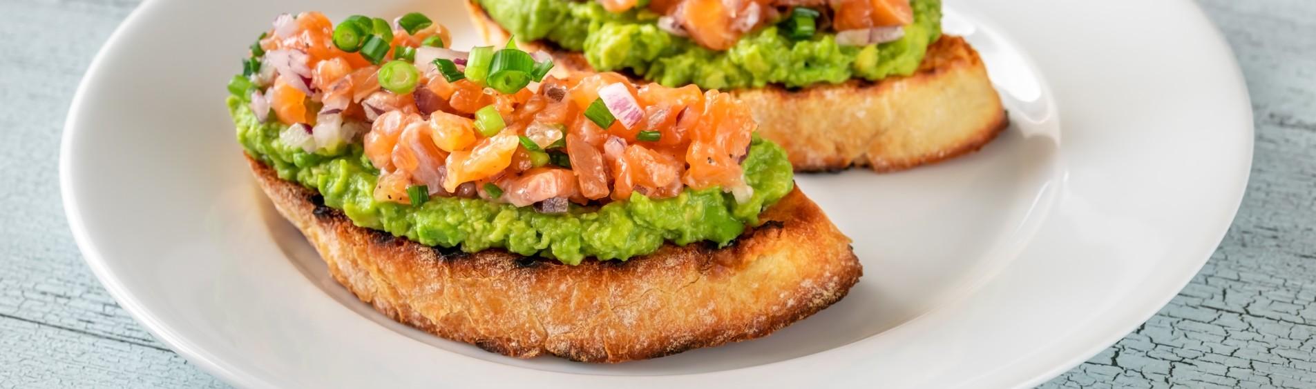 foto da receita Salmão com guacamole