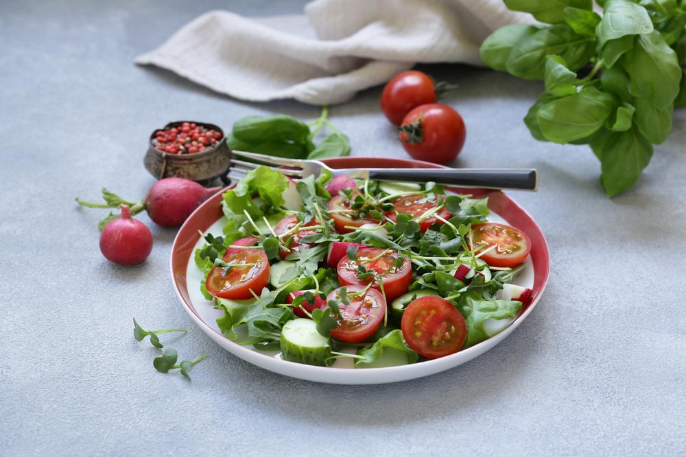 Salada detox horta