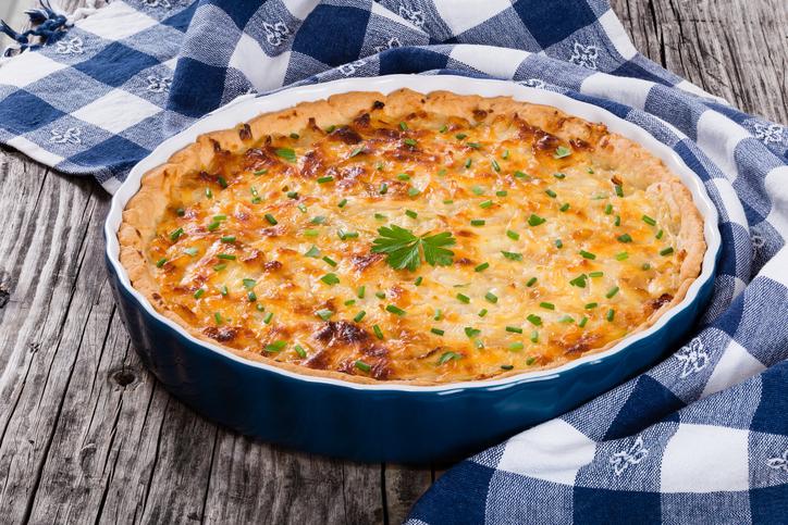 foto da receita Torta de couve flor low carb