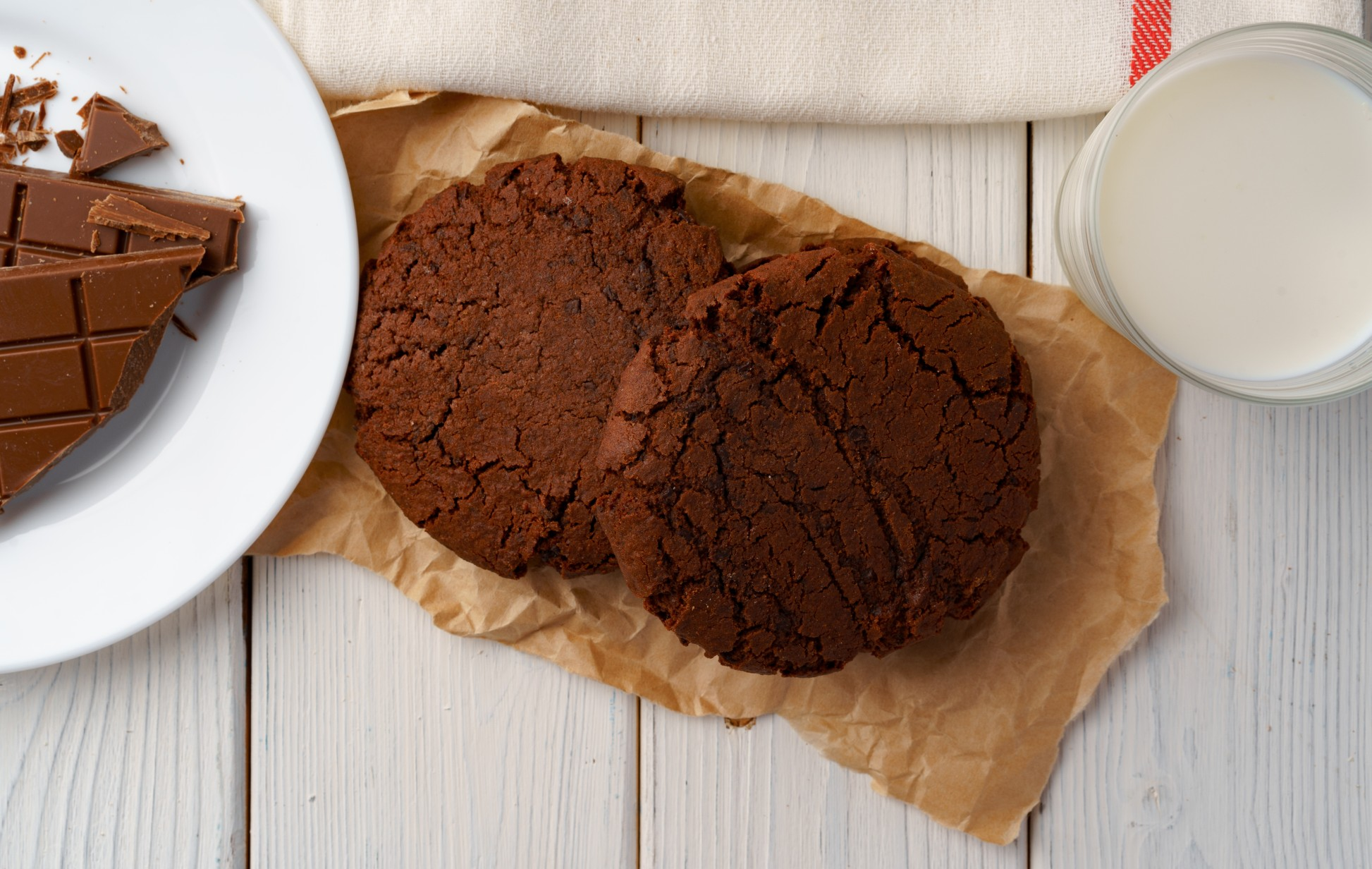 Cookie low carb de Chocolate