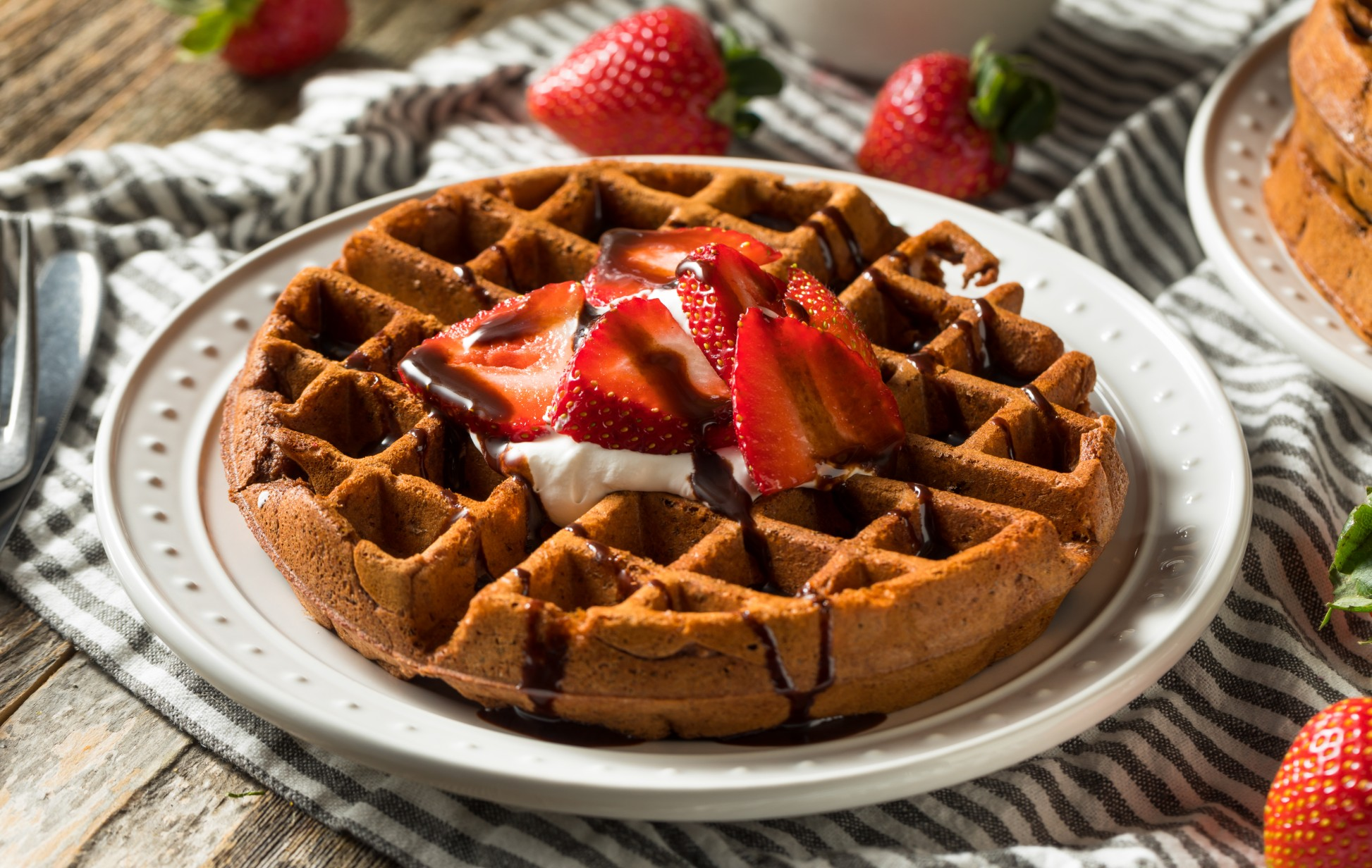 Waffle Low Carb de chocolate