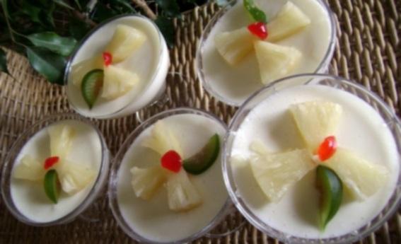 foto da receita Flan com abacaxi