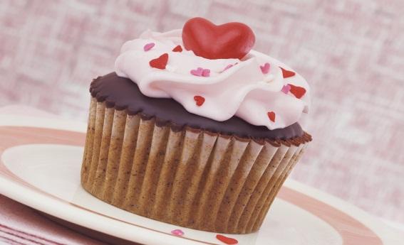 foto da receita Cupcake de chocolate com morango
