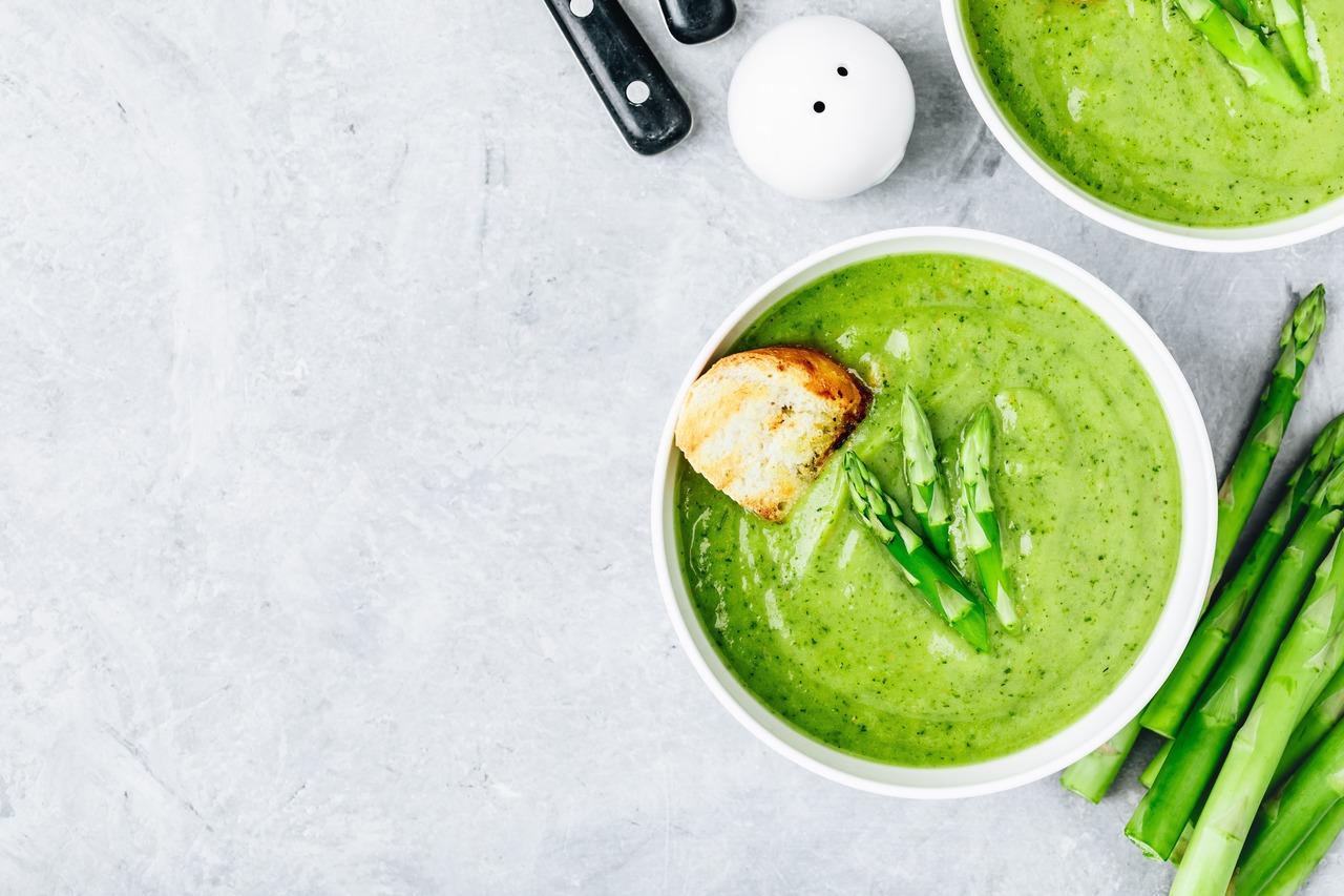foto da receita Sopa creme de aspargos