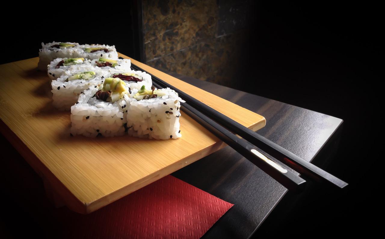 foto da receita Sushi vegetariano