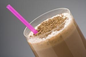 foto da receita Milkshake de chocolate light